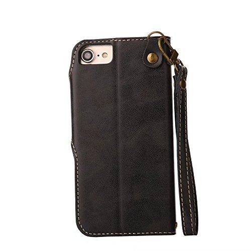 JIALUN-Telefon Fall Für IPhone 6 / 6s, mit Umhängeband, magnetische Schnalle Die Rosen öffnen das Telefon Shell ( Color : Pink ) Black