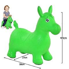 Idea Regalo - JJOnlineStore– Ballon sauteurpour enfants garçons filles Animal gonflable Cheval souple rebondissant