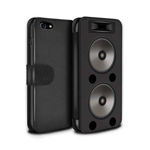 Stuff4 Coque/Etui/Housse Cuir PU Case/Cover pour Apple iPhone 7 / Double Design / Haut-Parleur dessin Collection Double