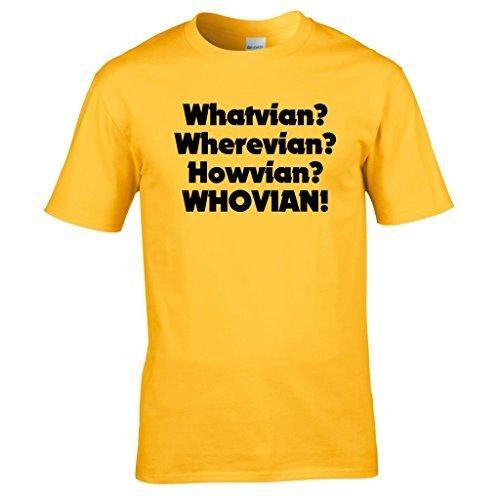 Naughtees kleidung Dr Who fächer Whovian Tshirt The ultimate geschenk für alle  whovian Gelb