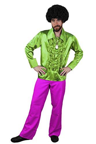 Ziggy Fancy Kostüm Stardust Dress (DISCO DANCE NIGHT FEVER KOSTÜM FÜR DIE PERFEKTE KULT ODER HITPARADEN VERKLEIDUNG DER 70iger ODER 80iger JAHRE UND FÜR DIE PERFEKTE KOSTÜMIERUNG AN FASCHING ODER KARNEVAL= VON ILOVEFANCYDRESS®= EIN MUß)