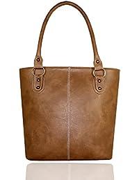 Fargo Fine Line PU Leather Women's & Girl's Shoulder Handbag (Beige_FGO-005)