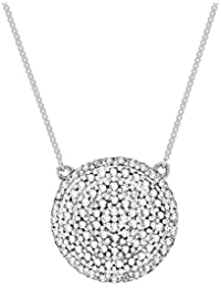Pave Prive 9ct White Gold with White Diamonds Full Circle Necklace of 45cm