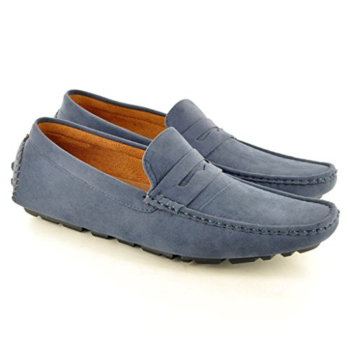 Mocassins décontractés pour homme, Chaussures de conduite. Bleu Marine