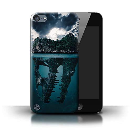 eSwish Hülle/Case für Apple iPod Touch 5 / Tropische Insel/T-Rex Muster/Dinosaurier Jurassic Earth Kollektion T-rex-mobile Handy