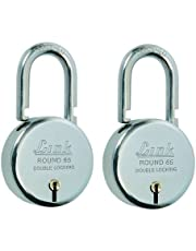 Link Round Steel Lever Bcp 65mm (Silver, Pack of 2)
