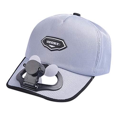 Timogee Sonnenschutz Sonnencreme Hut Baseball Cap Fan Kühlung Kappe für Herren Hut USB Aufladen atmungsaktiv Schatten (Strahlende Kirche)