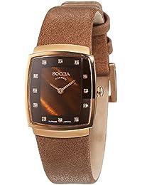 Boccia  B3237-04 - Reloj de cuarzo para mujer, con correa de cuero, color marrón