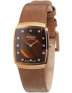 Boccia Damen-Armbanduhr XS Titanium Analog Quarz Leder 3237-04