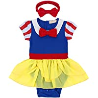 Neonate Primo Bambina Tutu di Compleanno con Fascia Set Biancaneve Principessa  Vestito Hollween Cosplay Costume Cerimonia 4d3b90a89bb