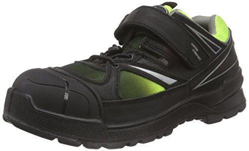 Sanita Workwear - Norite-s1p Velcro Leather Shoe, Scarpe antinfortunistiche Unisex – Adulto Nero (Schwarz (Black 2))