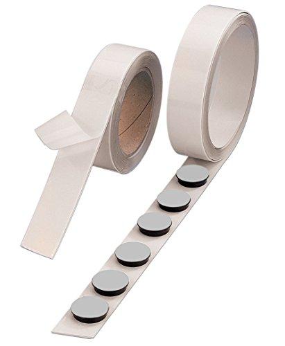 Selbstklebende Magnetleiste – Zuschneidbares, flexibles Magnet-Klebeband, stark – Ideal als Notizhalter – weiß – 5 m – von Magna-C