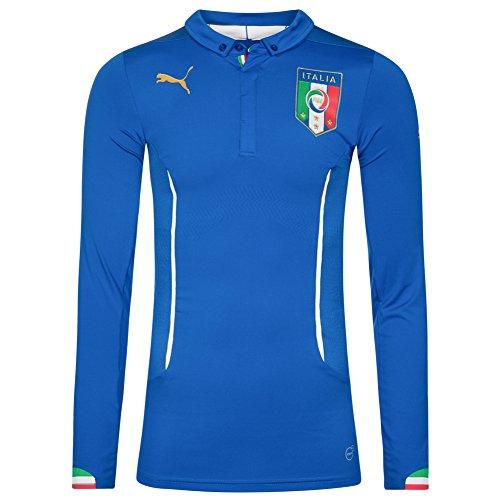 Italien PUMA Herren Langarm Heim Trikot Player Issue 744196-01