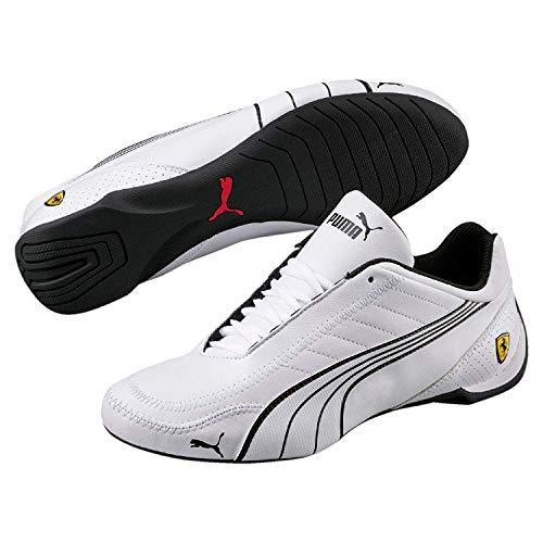 Puma Mens Ferrari SF Future Cat Kart Driving Athletic Shoes in White (10) - Puma Ferrari Future Cat