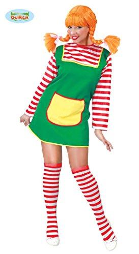 (Freches Mädchen mit Roten Haaren - Kostüm für Damen Karneval Fasching Rot Gr. M - L, Größe:L)
