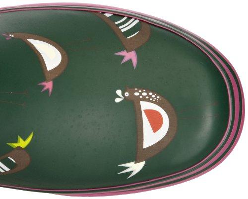 Evercreatures Chicken Tall, Stivali in caucciù Donna Verde (Vert - Green Chicken Print)