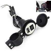 Sannysis® 12V impermeable Para Cargador USB 5V 1.5A motocicleta Móvil GPS(Negro)