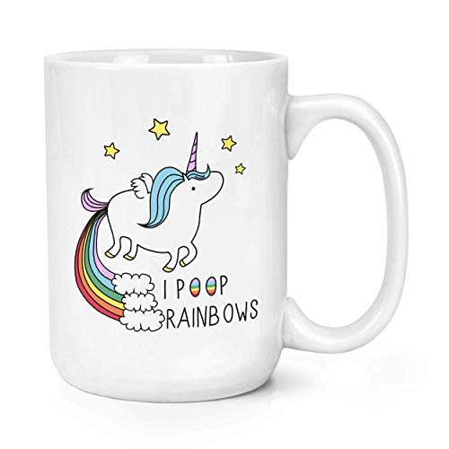 Licorne I Poop Rainbows 15oz Large Tasse