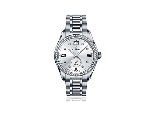 Eterna Lady KonTiki Quartz Watch, Ronda 6004B, 36,4mm, Diamonds, 1270.54.16.1731