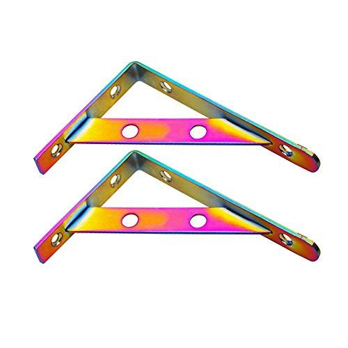 2 piezas de acero inoxidable L soportes de repisa, para trabajo pesado...