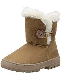 e24250e83 Holly Niños Niñas Botón Invierno Forrada De Piel Nieve Lluvia Acogedor Botas
