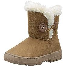 79326d671 Holly Niños Niñas Botón Invierno Forrada De Piel Nieve Lluvia Acogedor Botas