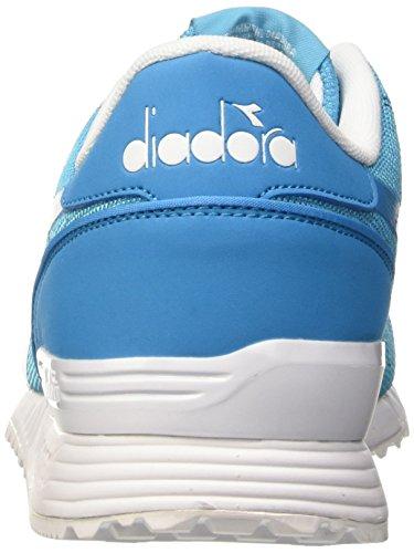Diadora Titan Fly, Pompes à plateforme plate mixte adulte Bleu - Blu (97023 Blu Fluo)