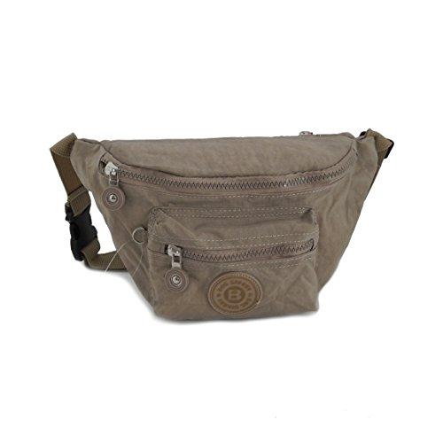 Bag Street Gürtel Tasche Hüfttasche Bauchtasche Nylon präsentiert von ZMOKA® in versch. Farben (Stone)