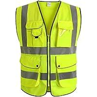 Fahrradanzug- Reflektierende Weste, Westen Sicherheitskleidung Reiten Verkehrstreiber Reflektierende Kleidung Nachtbau Hygiene Fluoreszierende Kleidung -Regenmantel ( Farbe : 1 pack , größe : L )