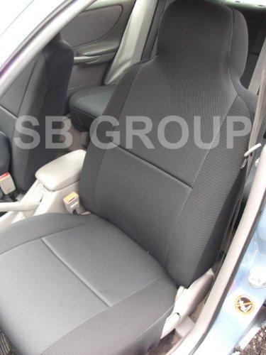 Saab 93Car Seat Covers-nero antracite-2fronti solo