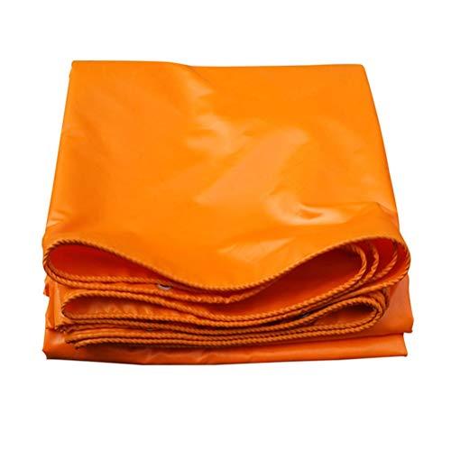 ZHANGGUOHUA Regenschutz Tuch wasserdicht Sonnencreme verdicken Freibad Baldachin Zelt Camping Schatten Leinwand (Color : Orange, Size : 1.5x2m)
