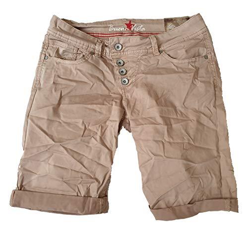 Buena Vista Damen Jeans Malibu-Short Stretch Twill Beige M - Stretch Twill-bermuda