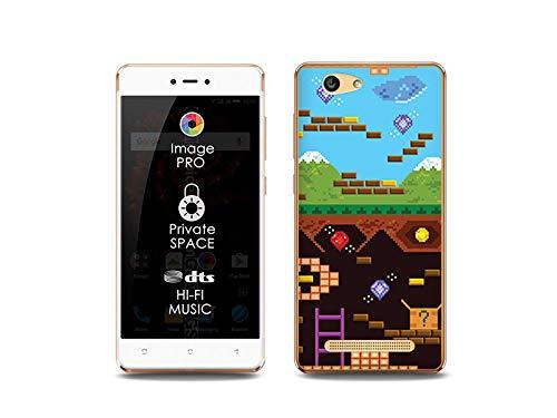 etuo Handyhülle für Allview X3 Soul Lite - Hülle, Silikon, Gummi Schutzhülle Fantastic Case - Oldschool Spiel