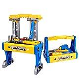 Versucht Ihr Kind, mit den Werkzeugen ihres Vaters zu spielen?  Geben Sie Ihrem Kind lieber etwas vollkommen Sicheres zum spielen.  Hier kommen die Helden der Werkzeugwelt - Werkbank und Werkzeugkasten!  Paket beinhaltet 70 Teile: Bohrmaschine x 1 Ha...
