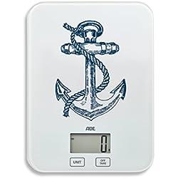 ADE Báscula digital de cocina KE1728 Stine. Pesa hasta 5Kg. Pantalla LCD. Tara. Sensor al tácto. Támbien para líquidos. Incluye baterias