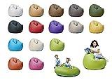 sunnypillow XL Sitzsack mit Füllung 100 cm Durchmesser 2-in-1 Funktionen zum Sitzen und Liegen Outdoor & Indoor für Kinder & Erwachsene viele Farben und Größen zur Auswahl Grün