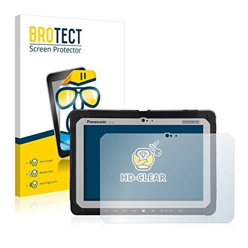 BROTECT Schutzfolie für Panasonic Toughbook CF-20 [2er Pack] - klarer Bildschirmschutz
