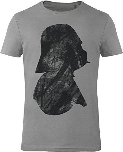 GOZOO Star Wars T-shirt Uomo Vader Profile 100% Cotone, Stampa di Alta Qualitá Grigio M