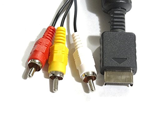 FOXMICRO Av Cable for Ps2 AND PS3 For Sony Playstation 2 and Playstation 3-SET 0F 02 Cable