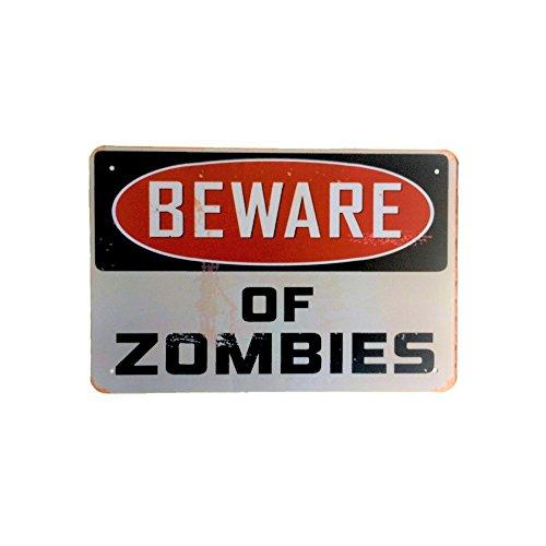 DiiliHiiri Cartel de Chapa Vintage Decoración, Letrero A4 Estilo Antiguo de metálico Retro-Beware