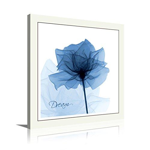 HLJ Arts Single Panel Kristall Thema Giclée-flackernde Blau Blumen Dream Gedruckt Gemälde auf Leinwand für Wand Decor