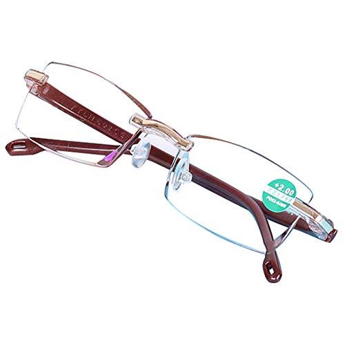 Reading glasses Anti-Blaulicht Lesebrille - Ultraleichte LesegeräTe FüR Herren Kunstharz Linse/Festes Scharnier Optische Anti-ErmüDungs-Brillen/Computerbrillen, 1,0 ~ + 3,0 -