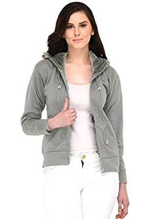 Fasnoya Women Hooded Sweatshirt wss-tr111-xs_Grey_X-Small
