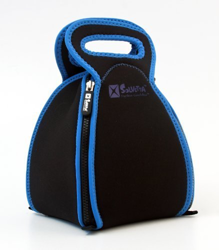 a204a188b168 FlatBox - The Innovative Neoprene Lunch Box that Converts to a Placemat -  For Kids School or Office, Machine Washable! REGULAR Black / Blue by ...