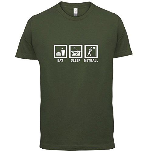Eat Sleep Netball - Herren T-Shirt - 13 Farben Olivgrün