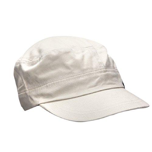 bec1c45a2b tongshi Moda Unisex tetto piano Cappello Militare cadetto Patrol Cappello  australiano Baseball Field Cap (grigio)