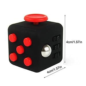 FidgetPro® De-Stress Fidget Cube - Red on Black. Warehoused and Shipped by Amazon UK from FidgetPro