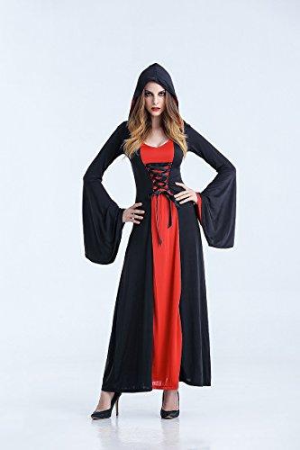 Ruanyi Festival-Kostüm-weiblicher Vampir-Zombie-Kostüm-Halloween-Geist-Braut-Maskerade-Partei-Königin-Kostüm für Frauen (Size : M)