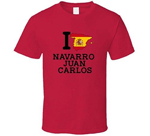 I Love Navarro Juan Carlos Spain Basketball Olympics T Shirt Large