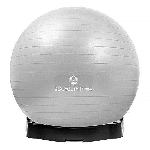 Preisvergleich Produktbild Gymnastikball »Orion« inklusive Ballschale / Robuster Sitzball und Fitnessball / 75 cm / silber inklusive Sitzschale